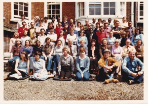 Student farewell photo taken at Walton Street 1981